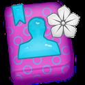 GO CONTACTS-TurquoisePurpleFlo icon