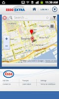 Screenshot of Esso Extra App