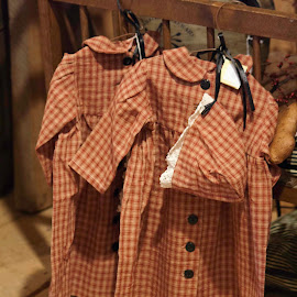 Antique clothes by Jennifer Hawk - Artistic Objects Clothing & Accessories ( red, clothes, children, antique, country,  )