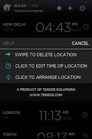 Screenshot of Warp - Time Zone Converter