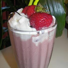 Chocolate Banana Strawberry Milk Shake