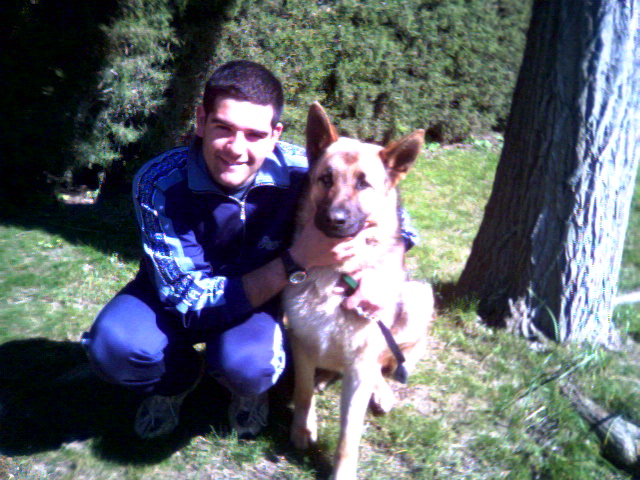 Me and Dek, my dog. April, 2004