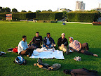 Pic-nic in a park of Paris with the Brothers of Charity.