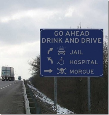 Drink and Drive funny traffic sign jokes cartoons