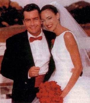 Charlie Sheen first wife donna-peele wedding picture