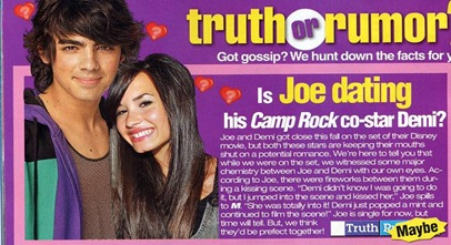 Demi Lovato joe jonas dating rumor picture
