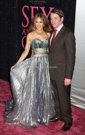 Sarah Jessica Parker and husband Matthew Broderick attended  NYC Premiere of Sex and the City-The Movie-Arrivals  Radio City Music Hall,  NYC May 27, 2008.
