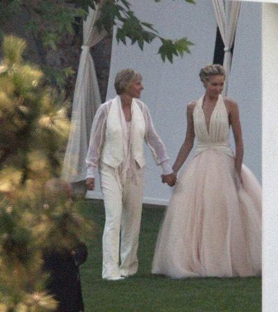 Ellen DeGeneres Portia de Rossi wedding pictures