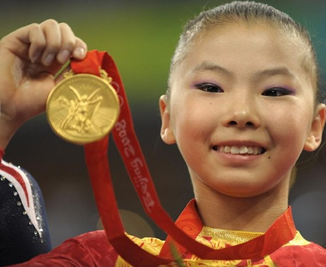 he kexin Arstic Gymnastics gold medal