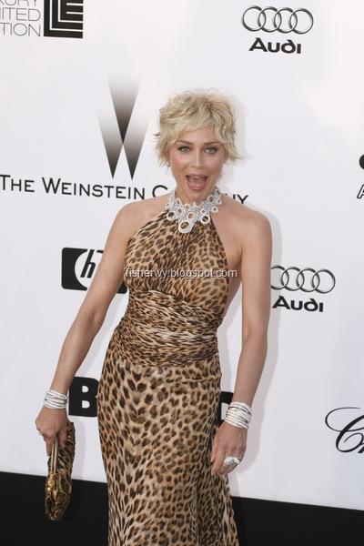 Sharon Stone 2008 at Cannes Film Festival - amfAR's Cinema Against AIDS 2008