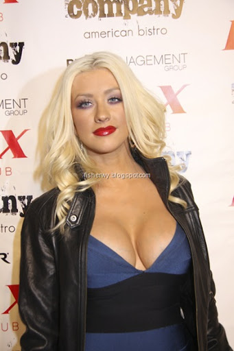 christina aguilera breasts