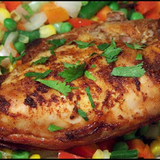 Citrus Chicken with Roasted Corn Relish