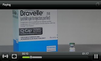 Screenshot of Fertility Injection Training