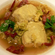 Ravioli & Cabbage Soup