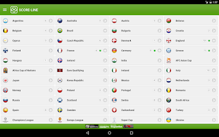 Screenshot of SCORE-LINE - Live Score
