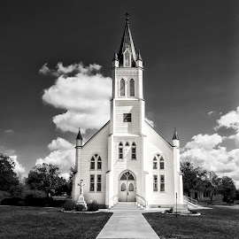 Small Town Texas Church by Kelley Hurwitz Ahr - Buildings & Architecture Places of Worship ( churches, texas, october 2014 )