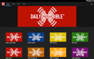 Screenshot of Daily Audio Bible