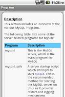 Screenshot of MySQL Pro Quick Guide Free