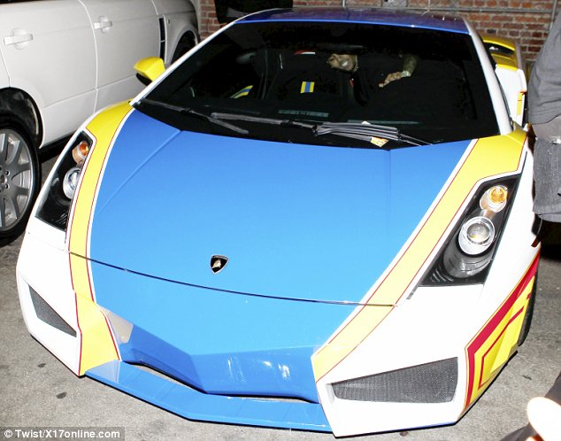 Chris brown Lamborghini