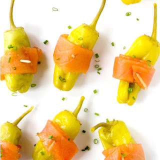Stuffed Pepperoncini with Smoked Salmon