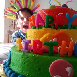 Dori's 3rd Birthday by Jason Gaston - Babies & Children Children Candids ( cake, birthday, female, happy, toddler, hispanic )