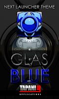 Screenshot of Next Launcher Theme glas blue