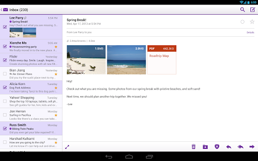 yahoo-mail for android screenshot