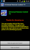 Screenshot of Universal Remote Control TV
