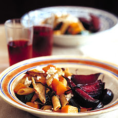 Whole-Wheat Penne with Butternut Squash and Beet Greens