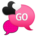 GO SMS - Hot Pink Hearts icon