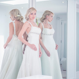 Marina 3513 by Keith Darmanin - Wedding Bride ( white, wedding dress, pretty, photography, mirror, blonde, kitz klikz, spouse, wedding, hairstyle, marina, keith darmanin, bride, hair )