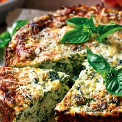 Spinazie En Courgette Ricotta Cake