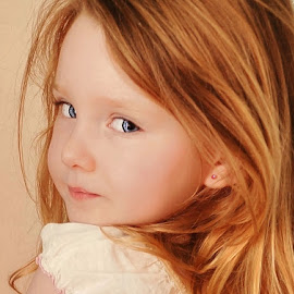 Looking Over My Shoulder by Cheryl Korotky - Babies & Children Child Portraits