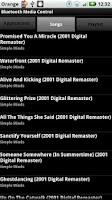 Screenshot of Bluetooth Media Control