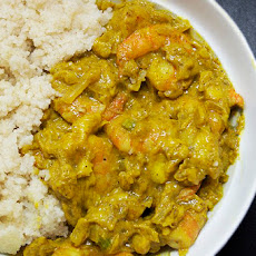 Shrimp and Green Banana Curry (From the Island of Mauritius)