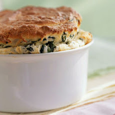 Arugula and Fontina Soufflé