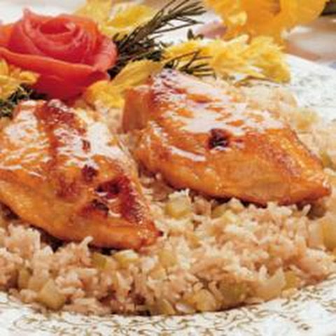 Glazed Chicken and Vegetables