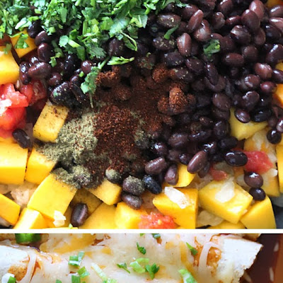 Butternut Squash and Black Bean Enchiladas