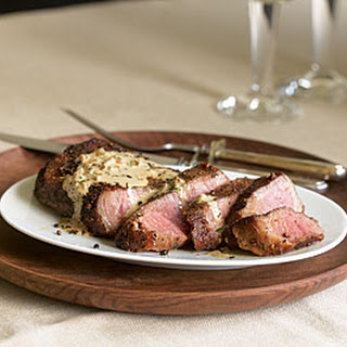 Steak au Poivre with Cognac Sauce