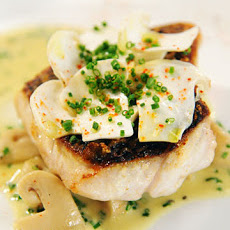 Black Sea Bass with Matsutake Mushrooms and Rosemary