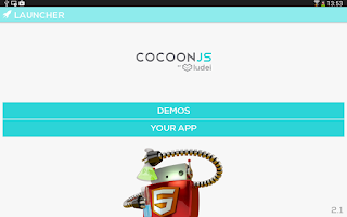 Screenshot of CocoonJS Launcher