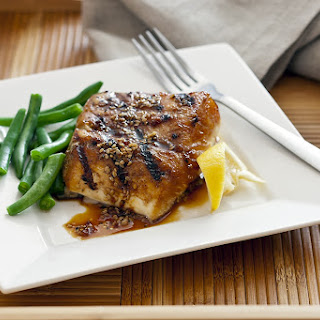 Grilled Teriyaki Striped Bass