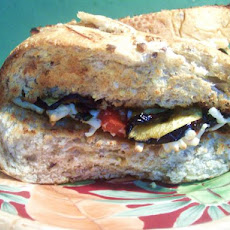 Eggplant and Mozzarella Sandwich