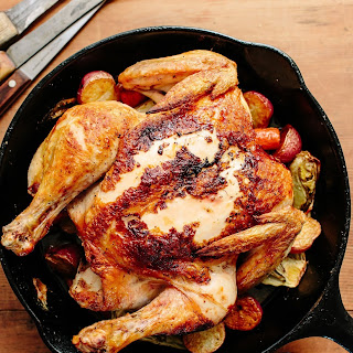 Roast Chicken with Fennel, Carrots, and Gremolata