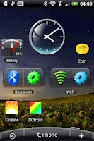 Screenshot of Glass Clock Widget 2x2