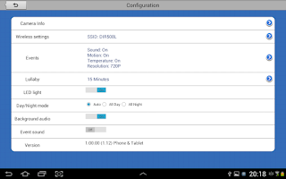Screenshot of mydlink Baby Camera Monitor