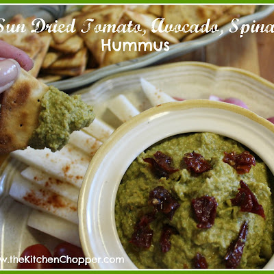 Sun Dried Tomato, Avocado, Spinach Hummus