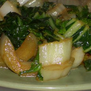 Bok Choy with Soy Sauce and Butter