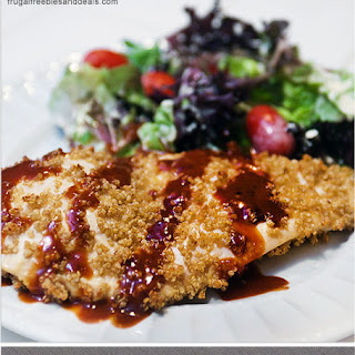 Quinoa Crusted Chicken with Creamy BBQ Sauce