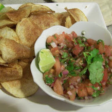 Mexican Potato Crisps With Lime Salsa